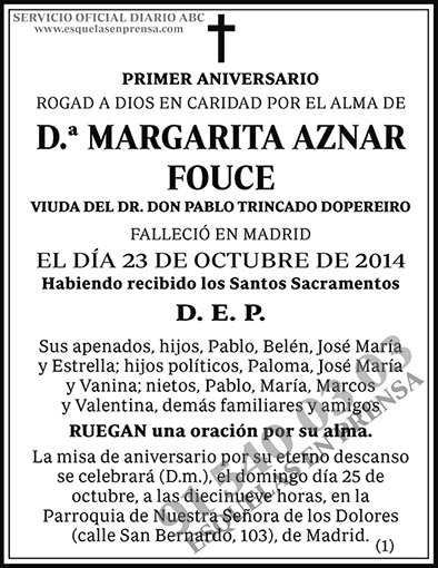 Margarita Aznar Fouce